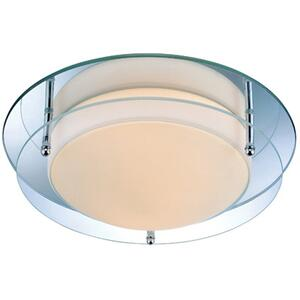 Flush Mount, Mirror/glass Shade, E12 Type B 40wx2