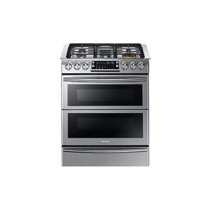 Samsung Appliances5.8 cu. ft. Slide-in Dual Fuel Range with Flex Duo™ & Dual Door in Stainless Steel