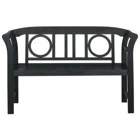 Moorpark 2 Seat Bench - Dark Slate Grey