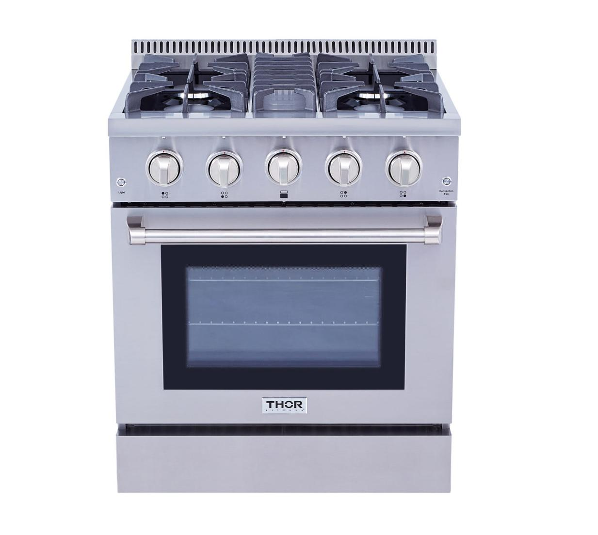 Thor Kitchen30 Inch Professional Gas Range In Stainless Steel - Liquid Propane