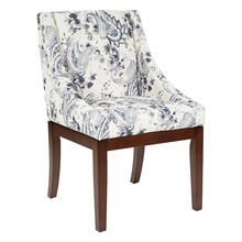 Monarch Dining Chair In Paisley Charcoal