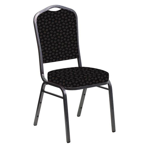 Crown Back Banquet Chair in Scatter Ferrer Fabric - Silver Vein Frame