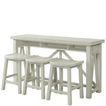 View Product - Aberdeen - Workstation - Weathered Worn White Finish