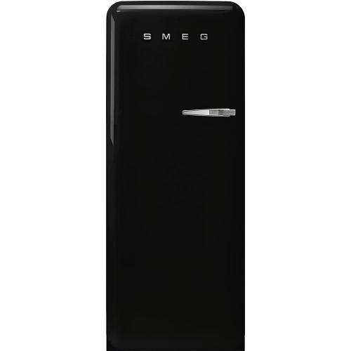 "24"" retro-style fridge, Black, Left-hand hinge"