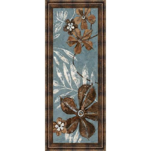 "Classy Art - ""Denim Garden I"" By Maria Donovan Framed Print Wall Art"