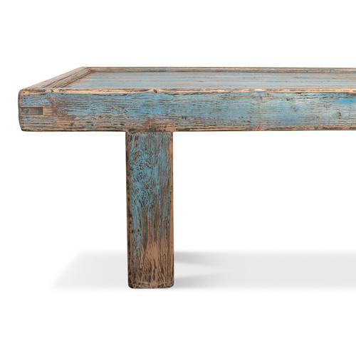 Large Wood Panel Coffee Table