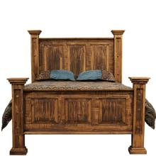 Rough Pine King Bed