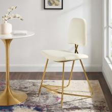Ponder Performance Velvet Counter Stool in Ivory