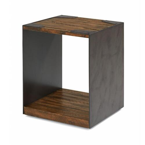 Flat Iron Chairside Table