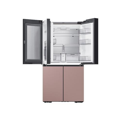 Samsung - 29 cu. ft. Smart BESPOKE 4-Door Flex™ Refrigerator with Customizable Panel Colors in Champagne Rose Steel