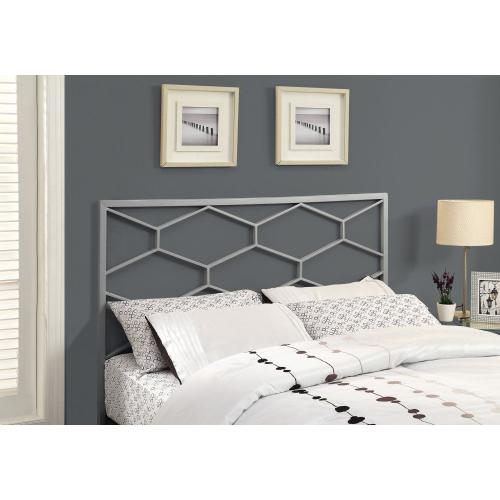 Gallery - BED - QUEEN OR FULL SIZE / SILVER HEADBOARD OR FOOTBOARD