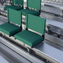 See Details - Grandstand Comfort Seats by Flash - 500 lb. Rated Lightweight Stadium Chair with Handle & Ultra-Padded Seat, Hunter Green