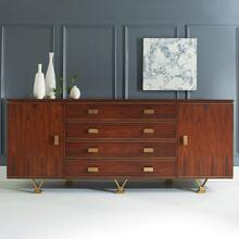 Linear Credenza-Rosewood