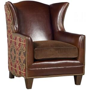 Athens Leather Fabric Chair, Athens Leather Fabric Ottoman