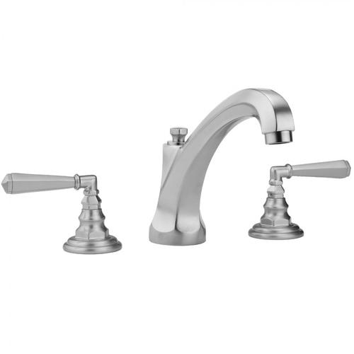 Jaclo - Antique Brass - Westfield High Profile Faucet with Hex Lever Handles- 0.5 GPM