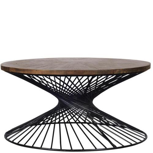 Kingston - Round Coffee Table - Nomad Finish