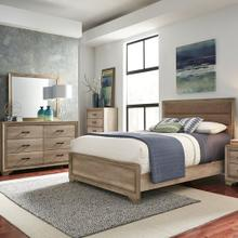 King California Uphosltered Bed, Dresser & Mirror