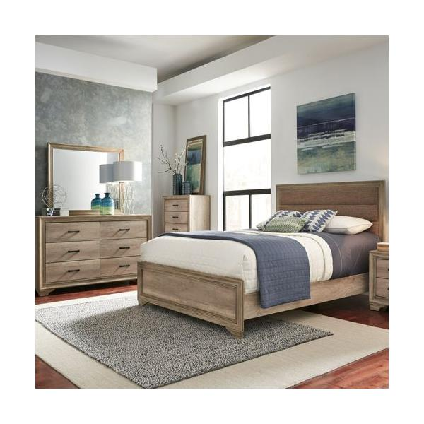 See Details - King California Uphosltered Bed, Dresser & Mirror