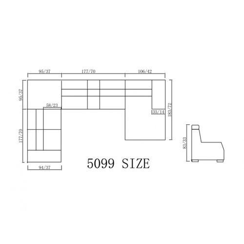 Divani Casa 5099 Modern Bonded Leather Sectional Sofa