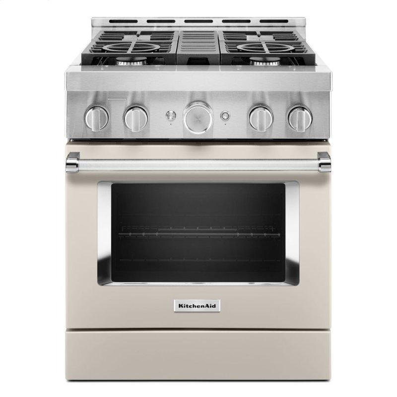 KitchenAid® 30'' Smart Commercial-Style Gas Range with 4 Burners - Milkshake