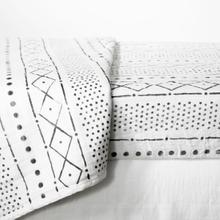 Dreamit - 3-Piece Muslin Baby Bedding Set, White and Gray, Crib