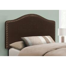 BED - TWIN SIZE / BROWN LEATHER-LOOK HEADBOARD ONLY