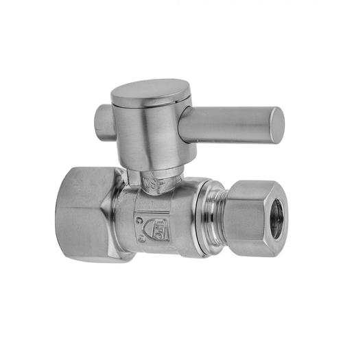"""Sedona Beige - Quarter Turn Straight Pattern 1/2"""" IPS x 1/2"""" O.D. Supply Valve with Contempo Lever Handle"""
