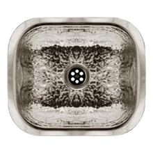 """View Product - 13"""" Rectangular Undermount Entertainment/Prep Sink with a Hammered Texture Surface - Hammered Stainless Steel"""