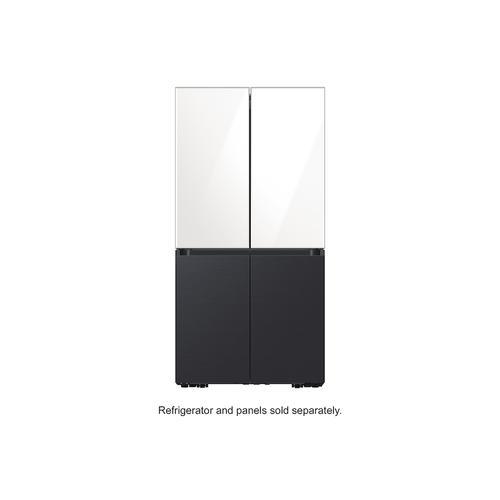 Samsung - BESPOKE 4-Door Flex™ Refrigerator Panel in White Glass - Top Panel