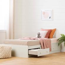 Summer Breeze - Mates Bed with 3 Drawers, White Wash, Twin