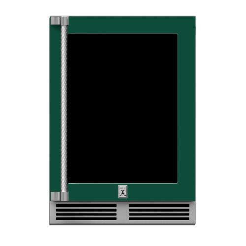 "24"" Hestan Outdoor Dual Zone Refrigerator with Wine Storage (UV-Coated Glass Door) - GRWG Series - Grove"