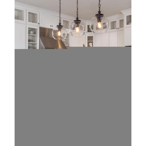 Tabby Clear Glass Pendant Oil Rubbed Bronze