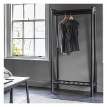 GA Wycombe Open Wardrobe Black