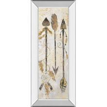 """Tribal Arrows"" By Nan American Indian Mirrored Frame Print Wall Art"