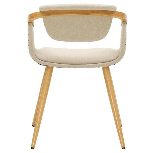 Darwin KD Fabric Bamboo Dining Side Chair, Stokes Linen/Natural