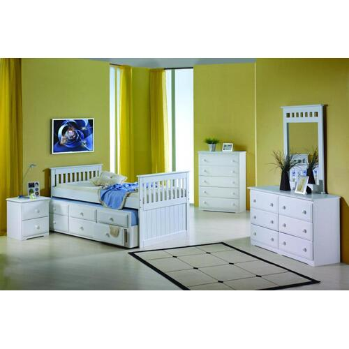 Reno - Twin Mission Captains Trundle Bed