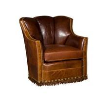 Pecos Leather Swivel Glide Chair