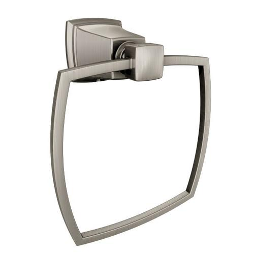 Boardwalk brushed nickel towel ring