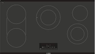 800 Series Electric Cooktop 36'' Black, surface mount without frame NET8668UC