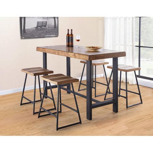 Landon 5 Piece Counter Set(Counter Table & 4 Counter Stools)