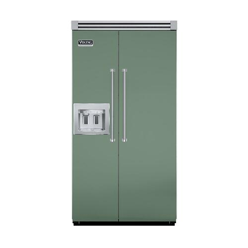 "Viking - Mint Julep 42"" Quiet Cool™ Side-by-Side with Dispenser - VISB Tru-Flush™ (42"" wide)"