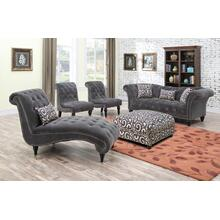 Emerald Home Hutton II Sofa Nailhead W/2 Pillows & 1 Kidney Pillow Thunder Bella U3164-00-13
