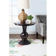 Round Pedestal Base Accent Table, Espresso