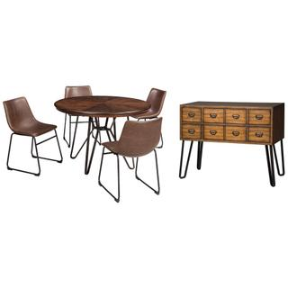 Dining Table and 4 Chairs With Storage