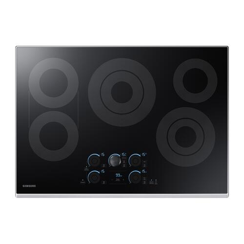 "30"" Smart Electric Cooktop with Sync Elements in Stainless Steel"