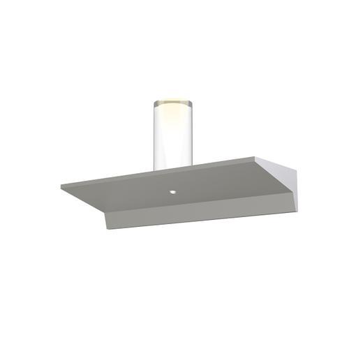 "Sonneman - A Way of Light - Votives LED Wall Bar [Size=1', Color/Finish=Bright Satin Aluminum, Shade Size=4"" height x 2"" diameter]"