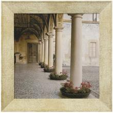 See Details - VILLA PORTICO I  30in w. X 30in ht.  Promotional Textured Framed Print  Made in USA