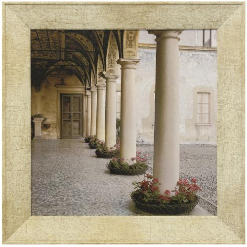 Style Craft - VILLA PORTICO I  30in w. X 30in ht.  Promotional Textured Framed Print  Made in USA