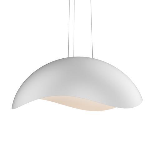 Sonneman - A Way of Light - Waveforms Dome LED Pendant [Size=Large, Color/Finish=Satin White w/Satin White Interior]