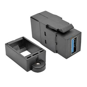 USB 3.0 All-in-One Keystone/Panel Mount Coupler (F/F), Black